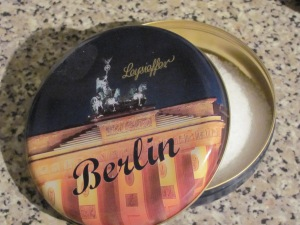 My uplifting salts in a Berlin-themed box